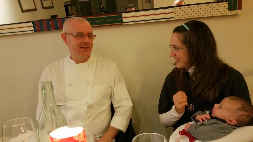 """Al ristorante in tre… si può fare! Racconto di una serata """"baby"""" al PEC."""