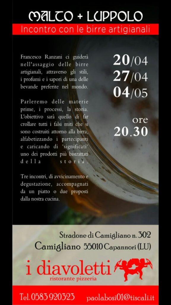 Malto + Luppolo. Incontro con le birre artigianali.